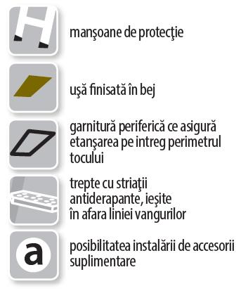 Specificatii continut FAKRO Scara modulara metalica LMS Smart