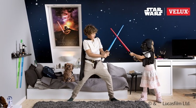 STAR WARS Velux rulou opac camera copii