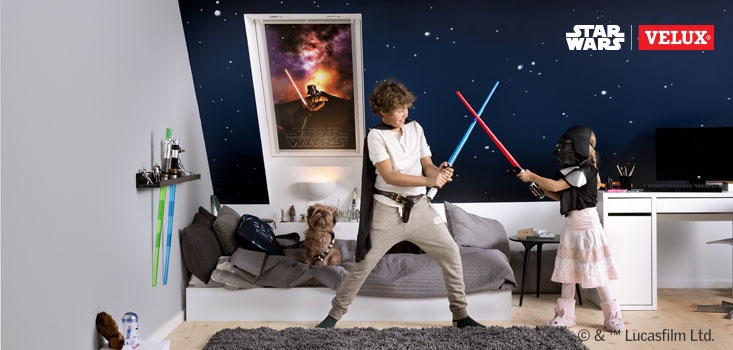 Star Wars & VELUX Galactic Night Collection copii dormitor