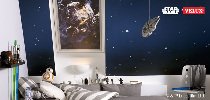 Star Wars & VELUX Galactic Night Collection camera copiilor